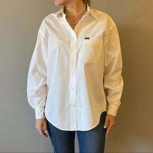 White Faconnable button down shirt